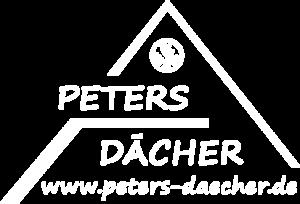Logo von Peters Dächer in weiß